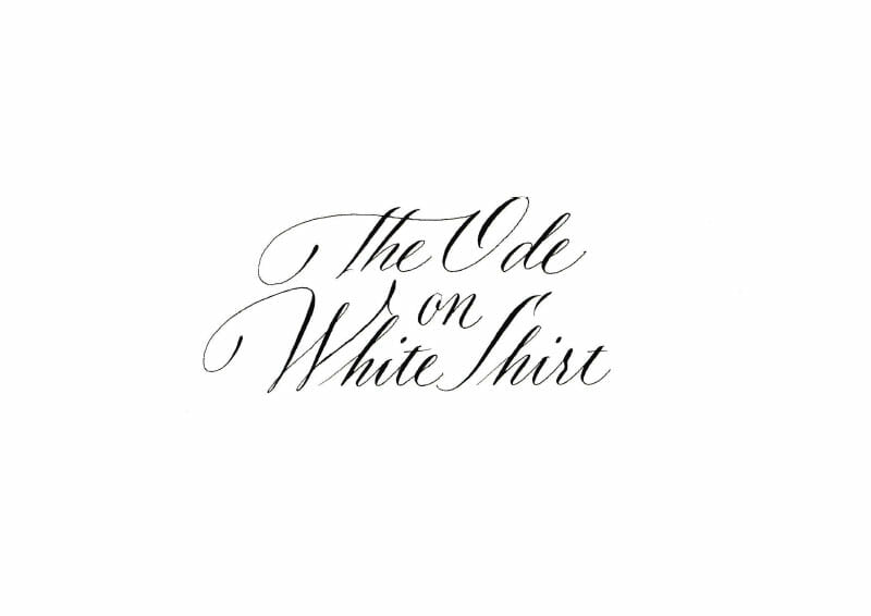 The Ode on White Shirt